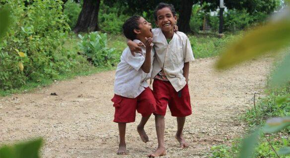 School boys in Indonesia