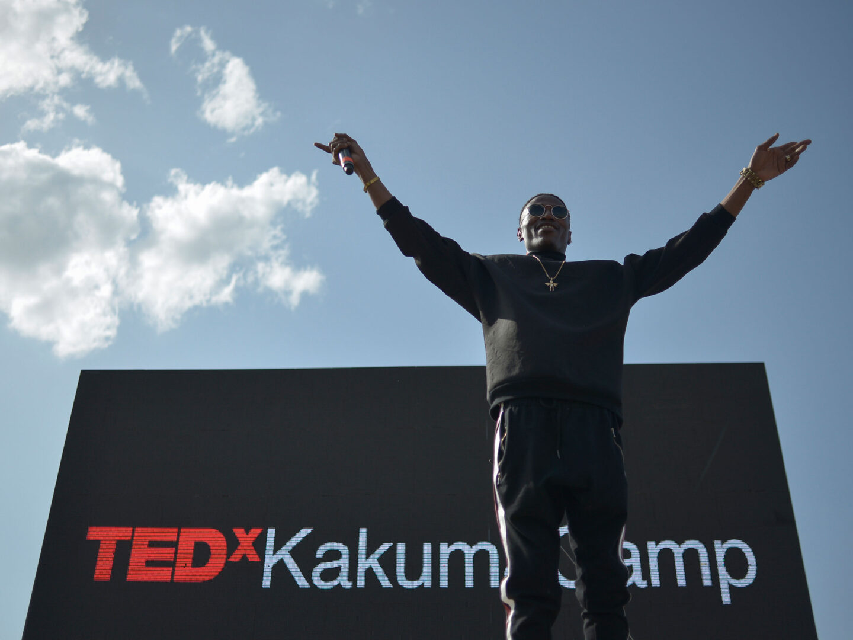 Speaker at the TedX event in the Kakuma Camp, Kenya