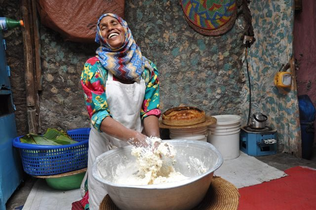Woman in Ethiopia who was part of our program with CARE.