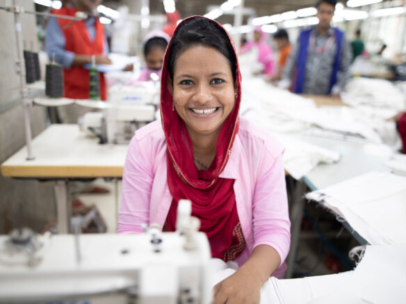 Garment worker in Bangladesh