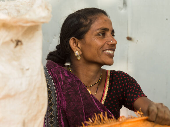 Female waste-picker in India