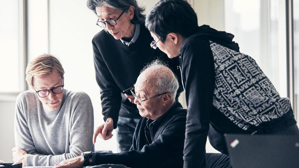 Core team: Erik Bang, Innovation Lead at H&M Foundation, Edwin Keh, CEO at HKRITA, Professor Kanji Kajiwara, Shinshu University (team lead of the development of the Green Machine) and Dr. Gloria Lei Yao, Director Project Development at HKRITA.