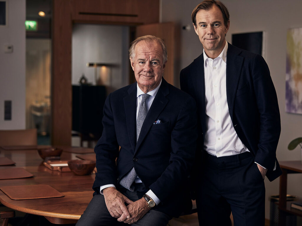 Portrait of Stefan Persson and Karl-Johan Persson.