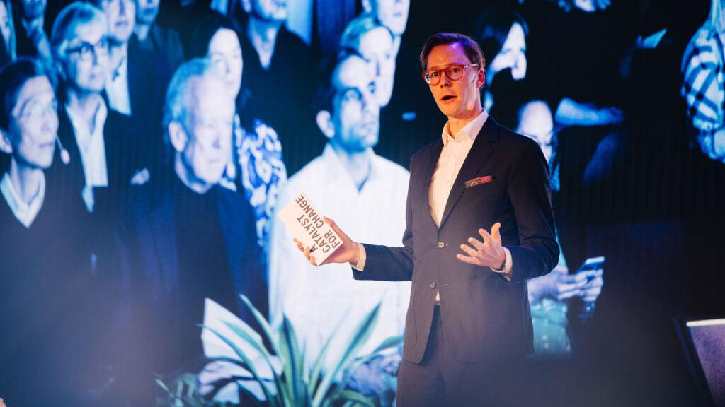 Erik Bang, Innovation Lead at H&M Foundation at the 2019 Global Change Award Summit.
