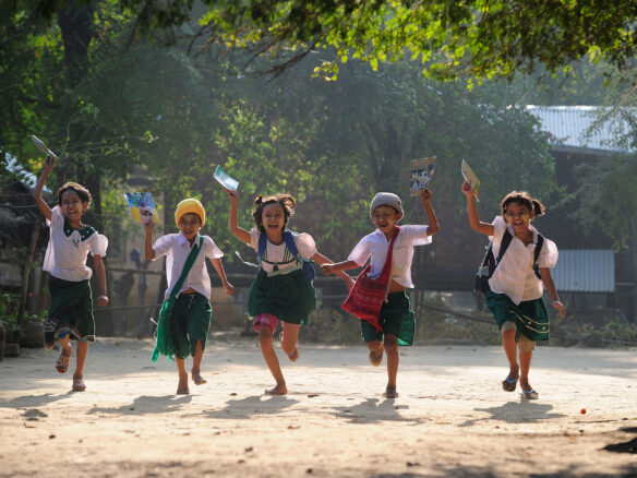 School children in Myanmar