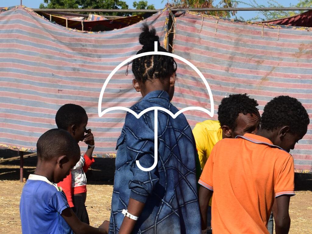 Ethiopian refugee children in Sudan