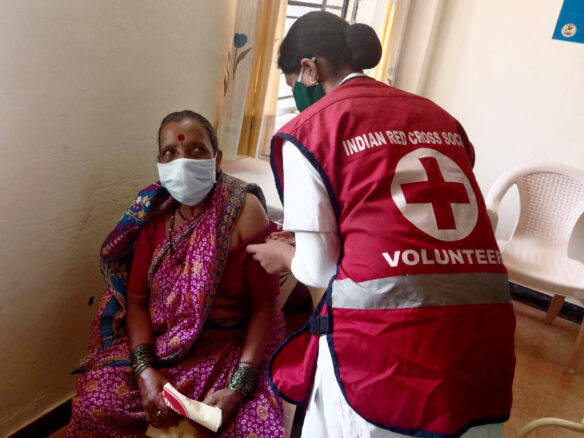 Red Cross India's COVID-19 clinic in India